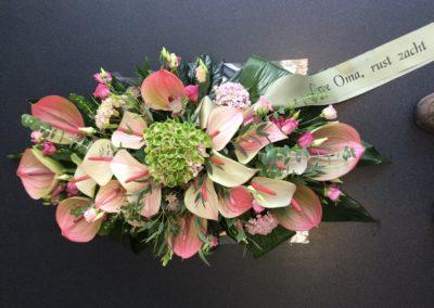 Rouwwerk roze